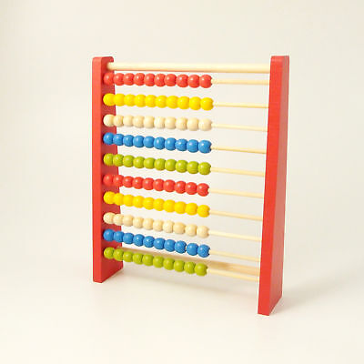 Abacus Educational Wooden Counting Beads Early Learning Numbers 10 Bars • 14.95£