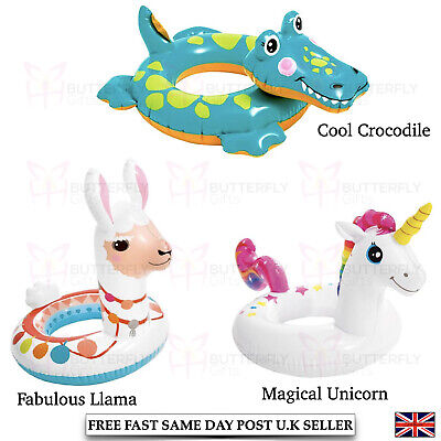 Inflatable Swim Pool Floats Unicorn LLama Swimming Fun Kid Water Sports Beach  • 7.95£