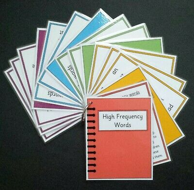 High Frequency Words Flash Cards Key Stage 1 Notebook Design Pocket Size  • 3.75£