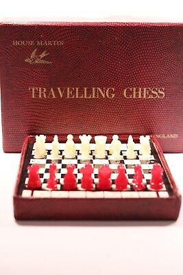 Vintage House Martin  Traveling  Chess  Set • 24.99£