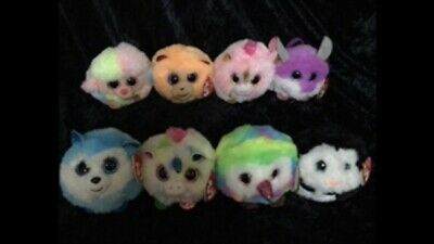 TY Puffies - Set Of 8 - NEW.  P&P Included. • 50£