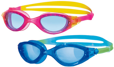 Zoggs Panorama Junior Swimming Goggles Age 6-14 Pink Blue Anti-Fog UV Kids Girls • 9.97£
