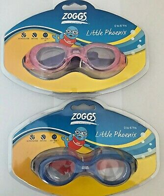 Zoggs Little Phoenix Cushioned Swimming Goggles Age 0-6 Anti Fog Childrens Kids • 7.97£