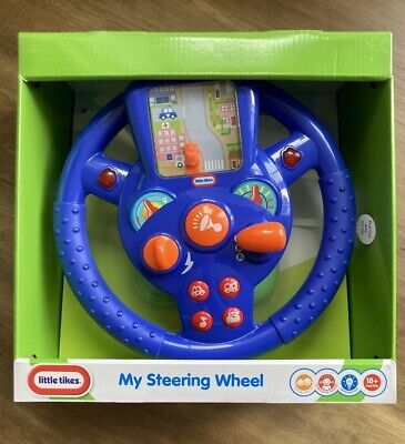 Little Tikes 'My Steering Wheel'  Music And Sound Effects Baby Toys Activity NEW • 25.99£