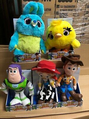 Official Disney Toy Story 4 Soft Toy Plush 10  25cm Woody Buzz Jessie Bunny Duck • 11.99£