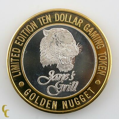 Jane's Grill Golden Nugget Casino Gaming Token .999 Silver Ltd Edition • 47.43£
