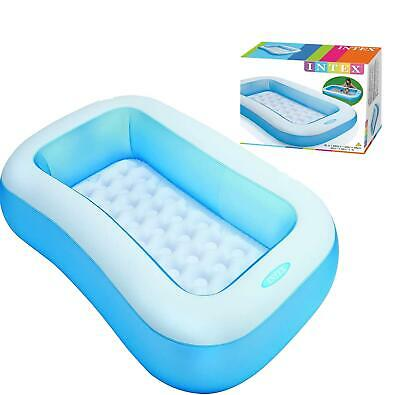 Blue Rectangular Family Paddling Pool With Soft Floor • 21.95£
