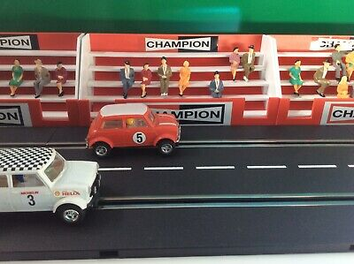 NEW 1:32 Scale Champion Grandstand & 7 Figures Scalextric Carrera Ninco Building • 18£