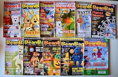 TY Bean Bag & Collectables Magazines Bundle X 11 TY Beanie Babies 2003 • 28£