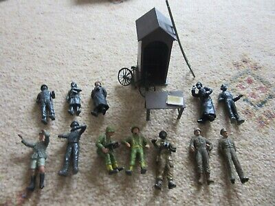 Vintage Collection Tamiya WW2 Figures And Sentry Box, Table, Ladder, Bicycle • 8£
