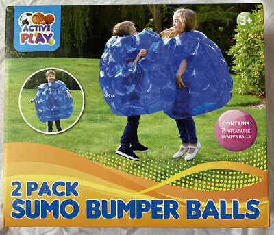 Kids Inflatable 2 X Buddy Bumper Bounce Balls Sumo Suits Fun Zorb Play Game • 27.99£