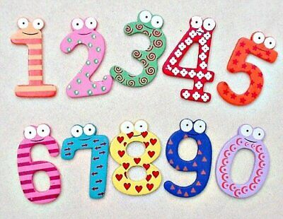 Funky Fun Colourful Wooden Magnetic Numbers Alphabet Letters Fridge Magnet Toy • 4.99£