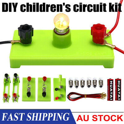 Kids School Electric Circuit Kit Science Toys Kits Montessori Learning Experimen • 5.99£