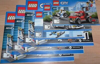 Lego City 60141 Police Station Instruction Manual BOOKS ONLY New • 7.99£