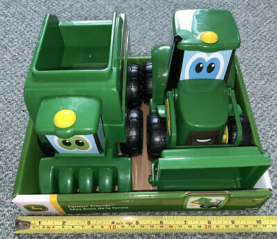 Tomy John Deere Farmin' Friends - Johnny Tractor &  Corey Combine (New In Stock) • 19.99£