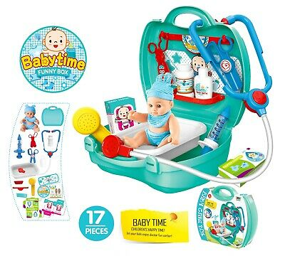 Kids Doctor Set Medical Playset Nurse Medic Pretend Role Play Toy Set Baby Doll • 9.95£