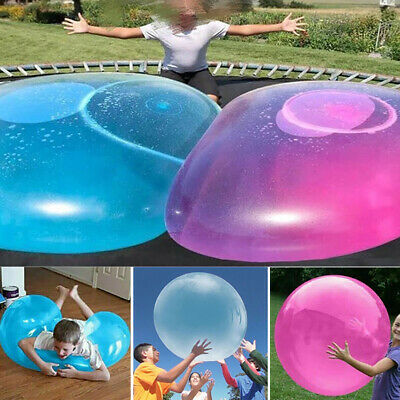 Large Bubble Ball Balloon Transparent Bounce Inflatable Funny Water Toy Rubber • 5.03£