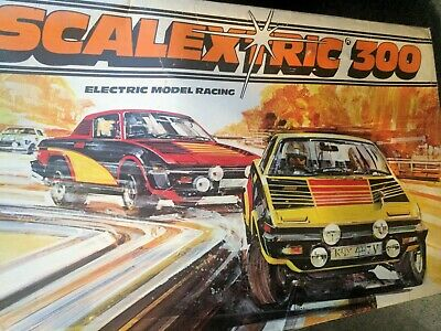 Scalextric 300 Triumph Tr7 Electric Model Racing Set Complete And Working • 50£
