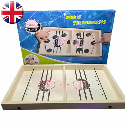 UK Family Games Fast Sling Puck Game Juego Paced SlingPuck Winner Board Toys • 14.99£