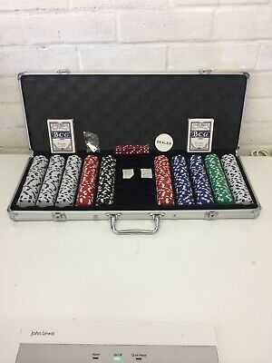 500 12g Clay Poker Chips Set With Aluminum Case - Pick Chips! New Fast Free 🚚🚚 • 54.99£