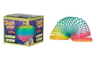 2 X Rainbow Coloured Spring Slinky Childrens Toy Springs Bouncy Toy For Party  • 4.99£