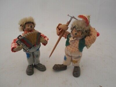 Two Vintage Steiff Hedgehog Figures - Mountaineering And Musician  • 29.99£