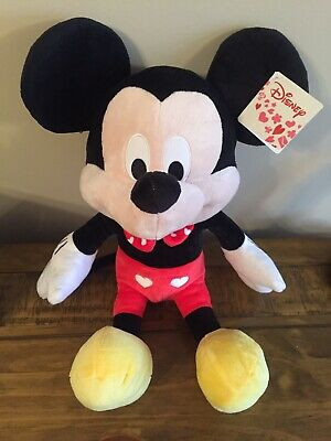 New Official Disney 15  Hearts Mickey Mouse Soft Plush Toy • 10.95£