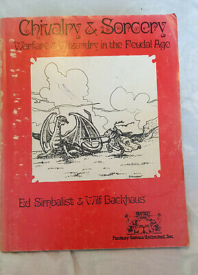 1976 Edition Of 'Chivalry And Sorcery' By Simbalist And Backhaus • 20£