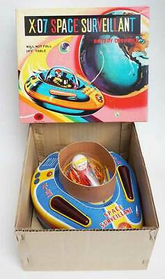 Japanese 1960s Space Survellant Space Ship Flying Saucer Original Box  ! • 199£