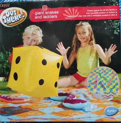 Giant Snakes And Ladders Indoors And Outdoors Waterproof Play Mat • 2£