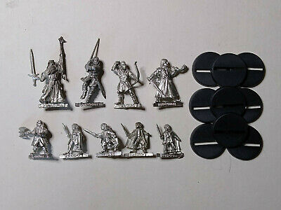 Warhammer LOTR- 9x Fellowship Of The Ring (A). Metal. OOP • 24£