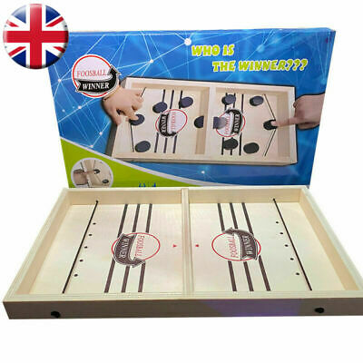 Family Games Fast Sling Puck Game Juego Paced SlingPuck Winner Board Game, UK • 18.99£