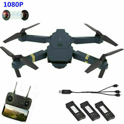 Drone X Pro Foldable Quadcopter WIFI FPV 1080P HD Camera 3 Extra Battery Selfie • 48.99£