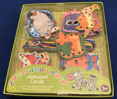 Alphabet Cards ..lace And Learn ..26 Lacing Cards ..age 3+.. New • 7.95£
