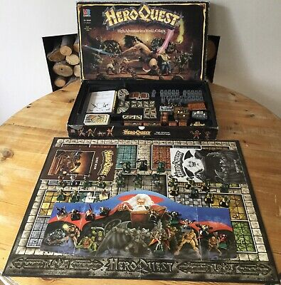 Heroquest 1989 Board Game Mb Games Complete Painted • 149.99£