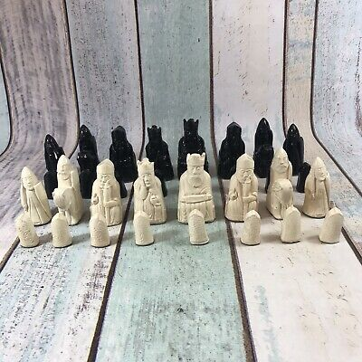 Isle Of Lewis Chess Set Chessmen Game Pieces Complete • 34.99£