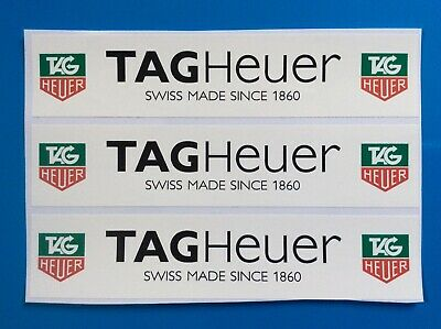 Tag Heuer Racing Decals - White Size 128mm X 28mm X3, Slotcar Scalextric, SCX,  • 2.85£