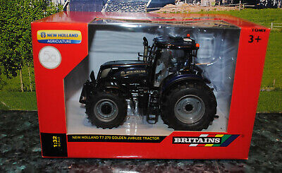Britains New Hiolland T7.270 Golden Jubilee Blue Power Tractor,  Mib • 30£