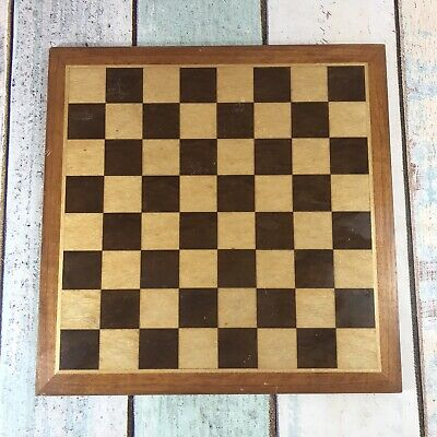 Vintage Wooden Inlay Chess Board With Felt Back 33 X 33cm • 29.99£