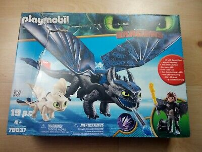 PLAYMOBIL Hiccup And Toothless With Baby Dragon  70037 • 32£