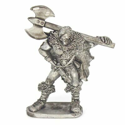 Barbarian Hero With Massive Double Bladed Axe 28mm Unpainted Metal Wargames • 1.80£