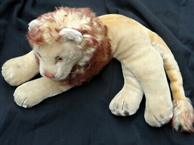 Vintage Mohair Stieff Lion 1950. 14   (inches) Long. • 49.99£