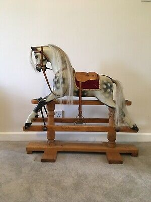 Antique Rocking Horse By G & J Lines Brothers, London. C1910 - 1920. • 1,150£