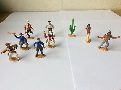 Timpo Cowboys & Indians  Two Later Series Heads & Sheriff Job Lot  • 19£