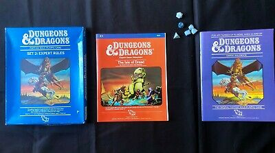 Dungeons & Dragons Set 2 Expert Rules TSR 1983. The Isle Of Dread. • 11£