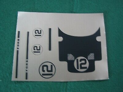 RS23B Repro Scalextric Decal C77 GT40 #12 FOIL - NEED CUTTING OUT  -  • 4£