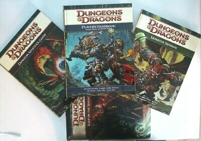 Dungeons & Dragons 4th Player's Handbook, Dungeon Master's Guide, Monster Manual • 49£