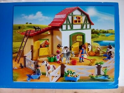 Playmobil Country Pony Farm Kids Playset Pony Stalls Storage Loft 6297 • 40£