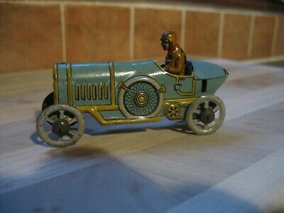 MEIER ANTIQUE PENNY TOY BOAT TAIL RACING CAR TINPLATE TIN GERMANY Quality Litho  • 270£