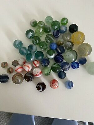 Job Lot Of Old Rare Glass Marbles Vintage • 20£